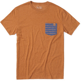 tentree Renfrew Pocket T-shirt Heren, brown sugar